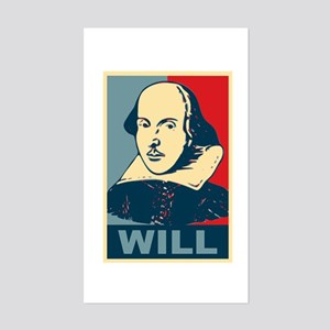 Pop Art William Shakespeare Sticker (Rectangle)